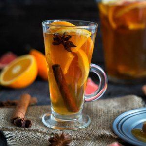 Апельсиновый чай с имбирём и корицей киви киви